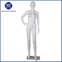 High quality moving white plastic museum mannequin in China