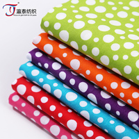 colorful polka dot printing cotton poplin fabric for Lady Garment China wholesale Cheap fabric