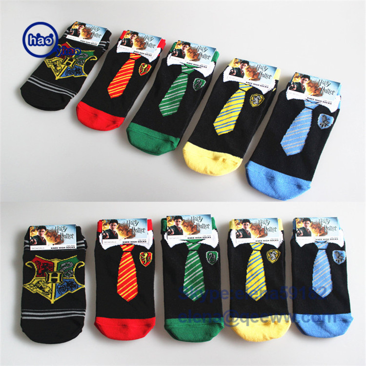 socks factory wholesale high quality custom logo custom made cotton bamboo harry potter ankle socks