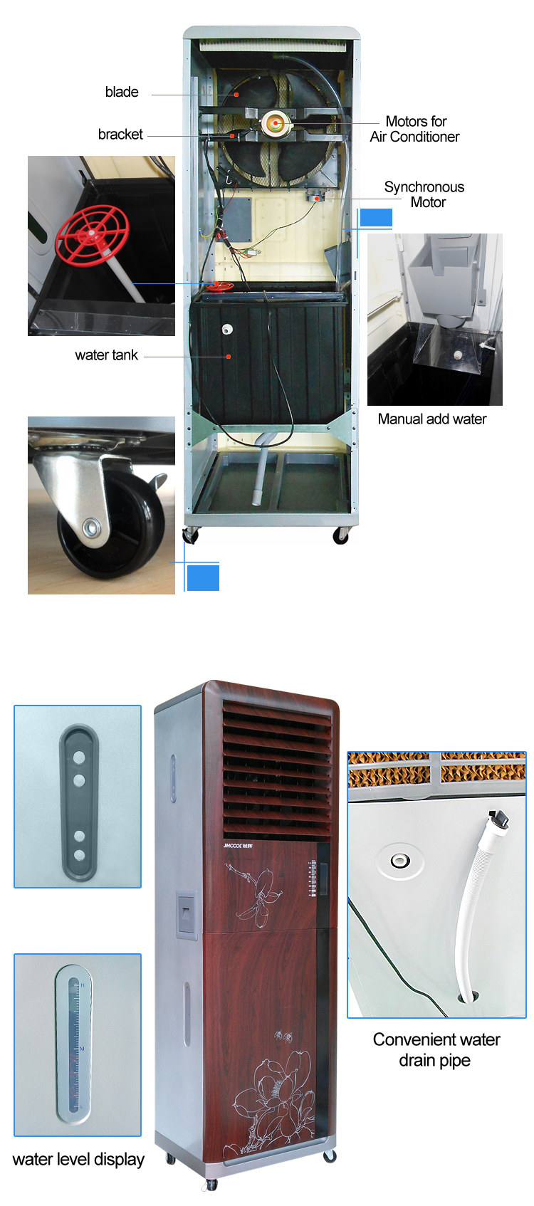 Noiseless most popular model room movable air conditioner