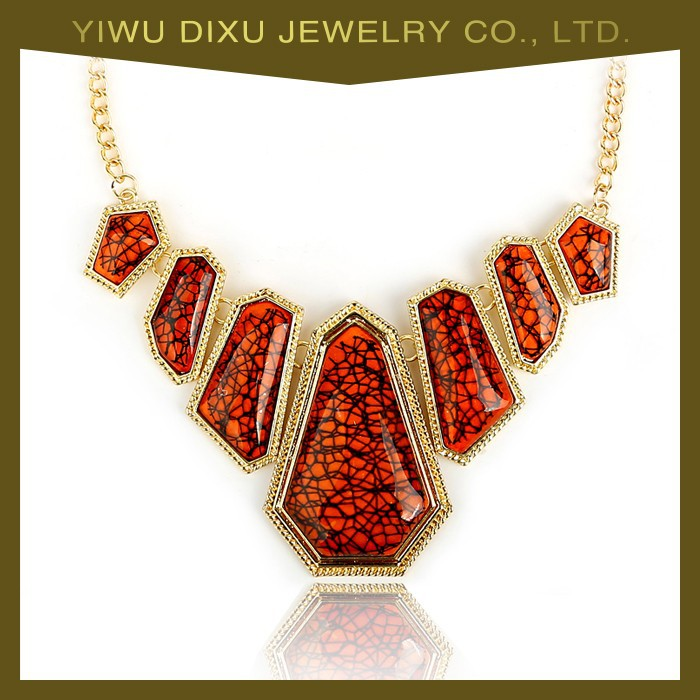 Hot sale wholesale jewelry set factory direct gold statement necklace