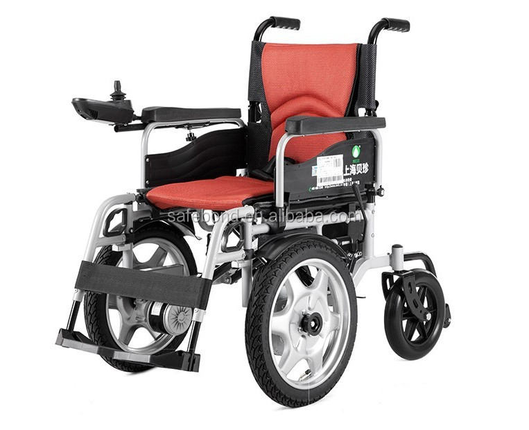 Fashionable Safebond cheap portable lightweight folding electric wheelchair