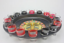Shot Glass Roulette - Comes With 2 Balls and 16 Shot Glasses Drinking Game Set