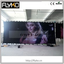 hot sales backdrop stage p10 hd definition video led screep50mm 2x5m