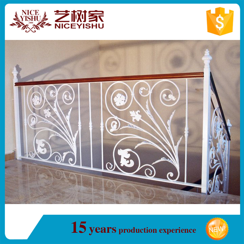 2016 new alibaba used decorative elegant cheap photos forged iron veranda railings/luxury ornamental aluminum balcony balustrade