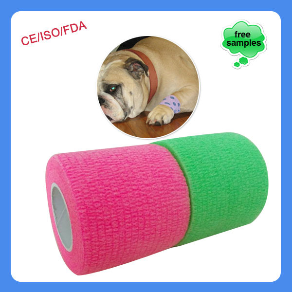China supplier medical pet accessory vet wrap cohesive bandage