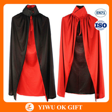 Double sided taffeta vampire cloak makeup cape for halloween and party