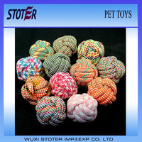 dog cotton rope ball pet toys