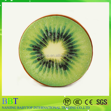 Cute cheap 3D kiwi fruit sofa cushion custom soft round massage chair memory foam cushion