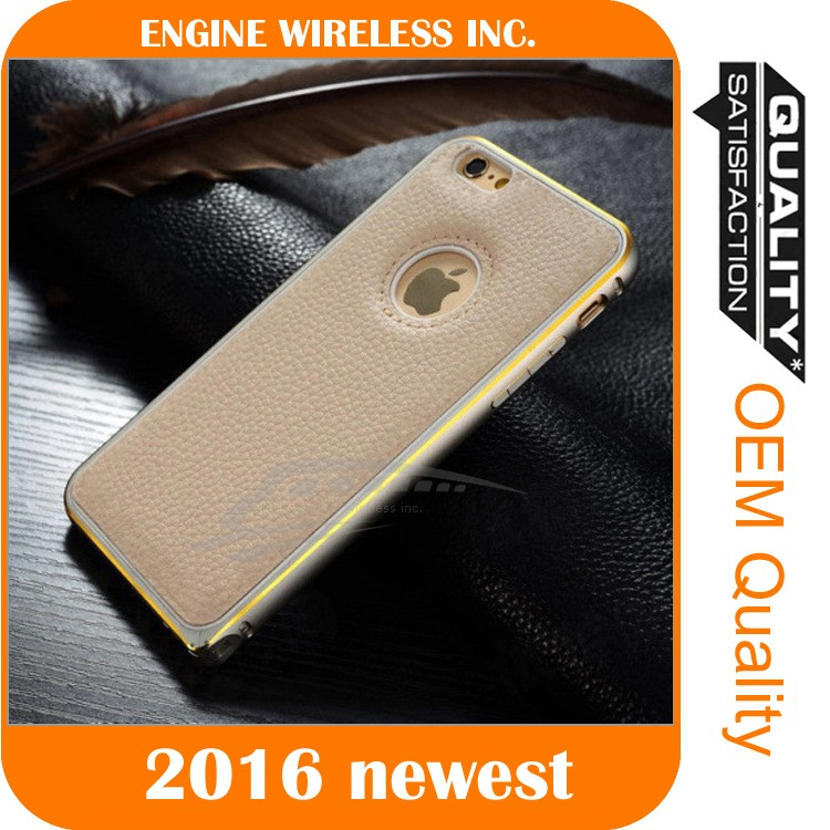 mobile phone accessories case leather back cover yolope case for iphone6