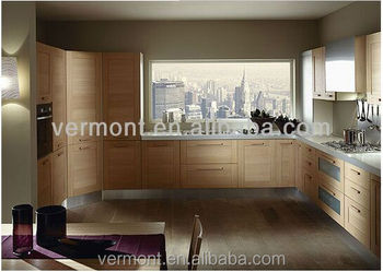 2017 High quality Wooden kitchen cabinet made in China(VT-SK-016)