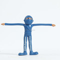New arrival custom made bendable toy/customized flexible plastic blue figures bendable toy factory