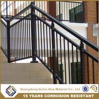 Stair railing,handrail manufacturer supply the outdoor wrought iron stair handrail