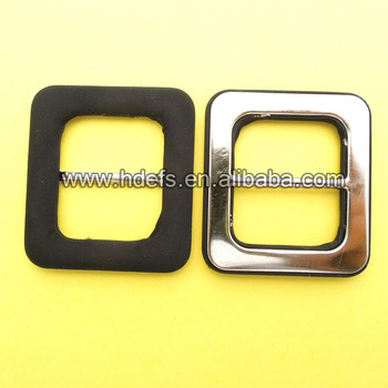 Brass back material fabric cover buckle