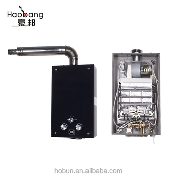 Hot-sale 12L balance exhaust type LPG/NG gas water heater with knob control for Russia/Georgia/Ukraine