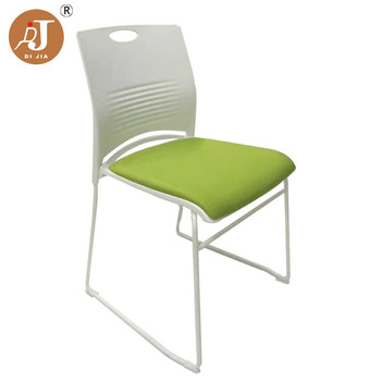 Modern Colored Economic Stackable School Paded Plastic Training Chair