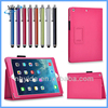 PU Stand For iPad Air Smart Cover Case Hot Pink