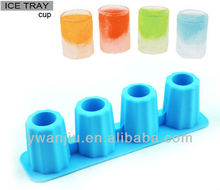 Supply creative serial cup shaped silicone ice grid / ice tray / ice cube