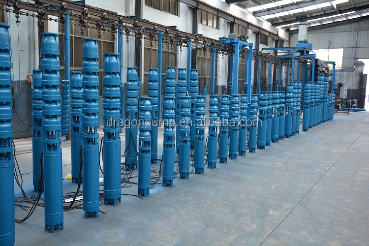 8Hp 13Kw Specification Industrial Centrifugal Water Submersible Borewell Pump With Three Phase Induction Motor