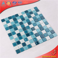 High quality mosaic stone blue glass swimming pool tiles