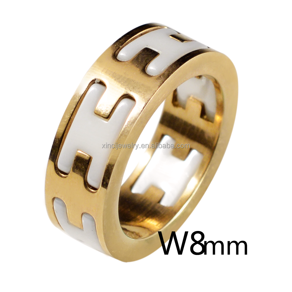 Brand Men Ring Ceramic Ring Made With Ceramic & Stainless Steel