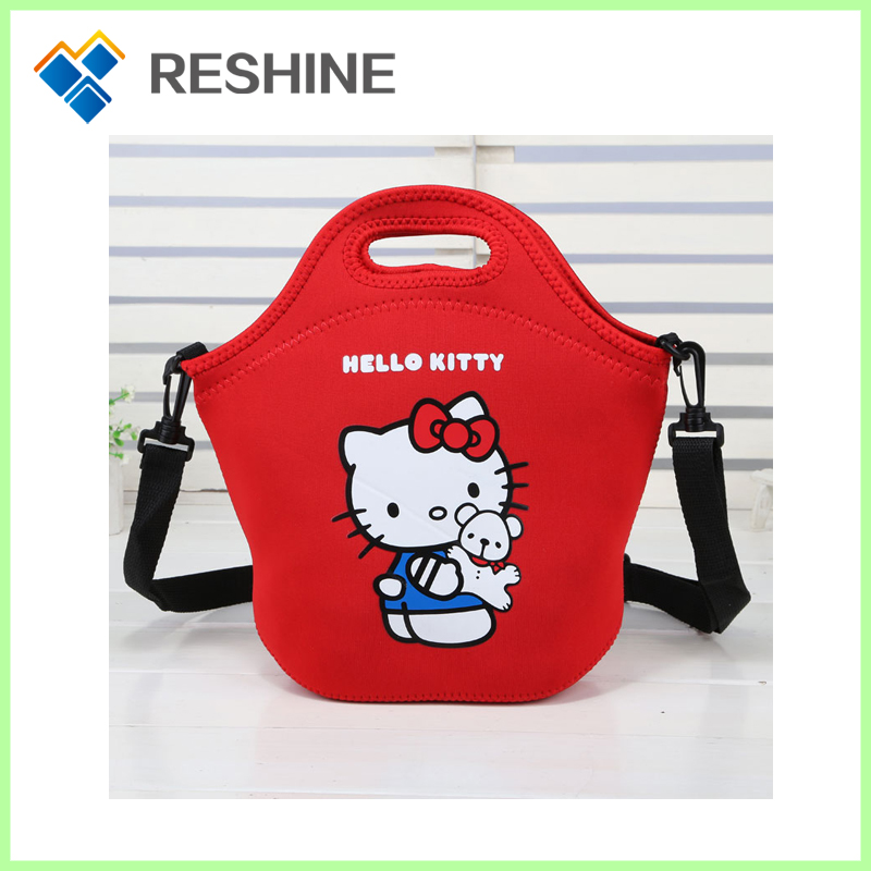 promotional trendy backpack neoprene with straps lovely for kids round lunch bag