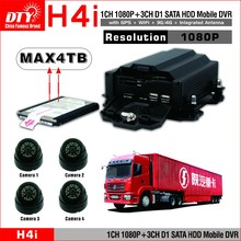 1080p 4ch D1 HDD car h.264 network digital video record with 3g 4g wifi gps,H40