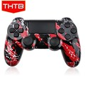 Top quality red splash shell case for ps4 controller with full buttons