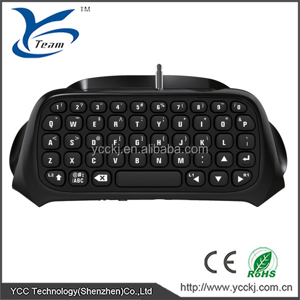 Bluetooth Wireless Chat Keyboard for PlayStation 4 Controller Wireless Keyboard for PS4