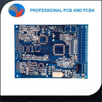 superior quality digital clock circuit board of blue solder mask