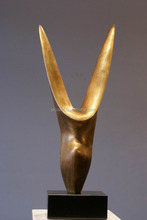 Abstract horned metal art sculptrue