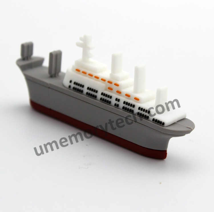 Plastic cartoon cruise ship usb flash drive pendrive memory stick for promotion gift wholesale usb stick