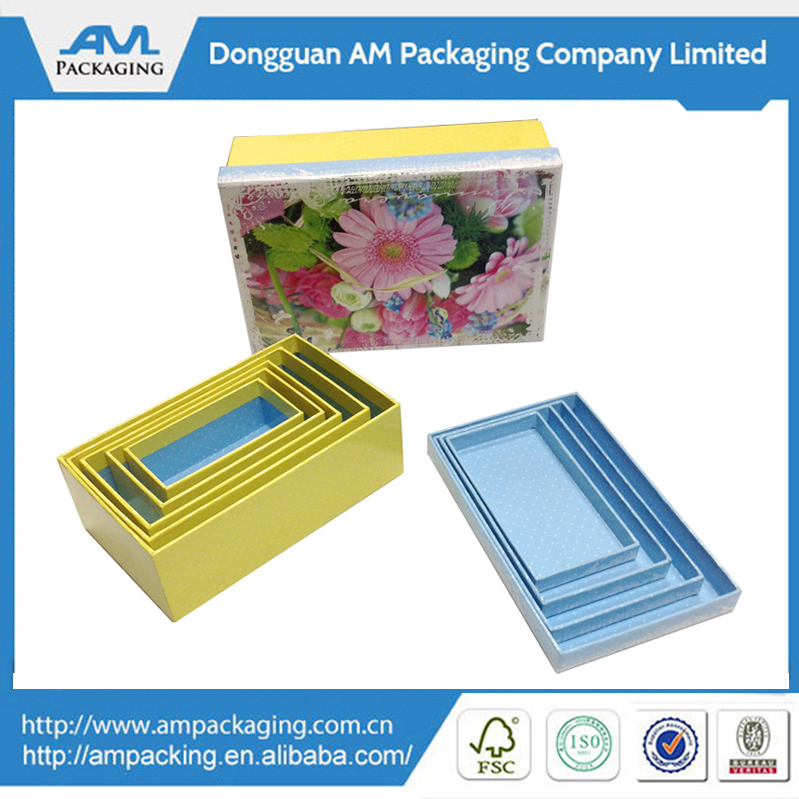 Full-Color Imprint Paper Nested Decorative Gift Box for Sale