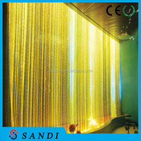 PMMA plastic side glow star twinkling effect fiber optic cable for waterfall lighting