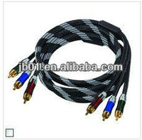 new style nylon braided av cable for psp 1000,audio video cable , rca cable