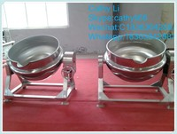 Stainless steel double steam jacketed kettle for jam