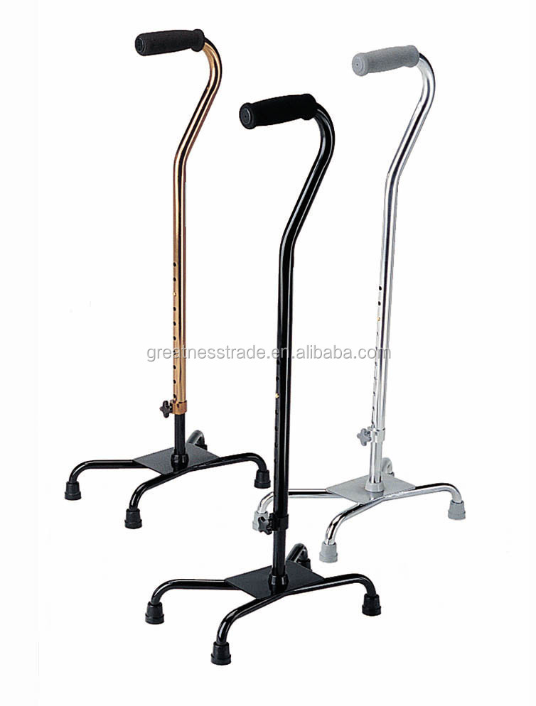Model C1114 adjustable four-legged new crutches for disabled walking aids