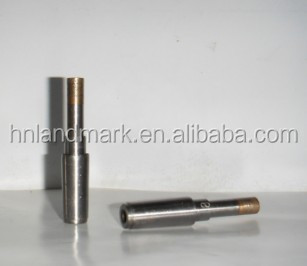 Thin wall sintered diamond glass bit for temper glass drilling
