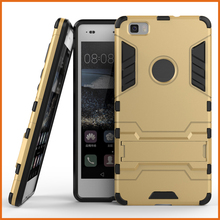 Iron bear hybrid kickstand mobile phone case for huawei p8 lite