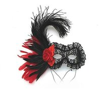 beautiful design feather mask