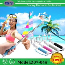 New products 2017 innovative selfie stick with tripod, selfie-stick , wireless monopod selfie stick walking stick