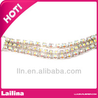 wholesale 3 rows crystal rhinestone bikini connector decoration swimwear buckle