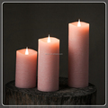 TECMO modern series battery operated with remote and timer flameless moving wick paraffin wax LED candles