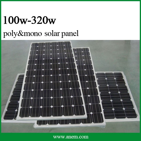 High power efficiency Monocrystalline 250 watt solar panel