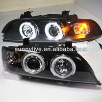 For BMW E39 5 Series 520 525 528 530 535 540 LED CCFL Angel Eyes Head Lamp 1995-2003 year SN V4