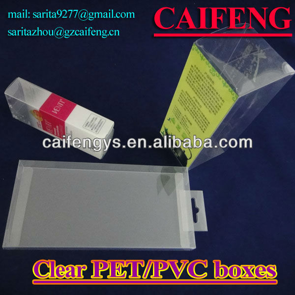 Part clear PVC PP PET packaging box