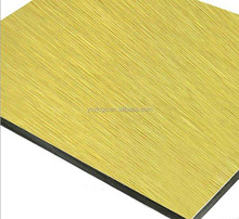 Aluminum composite panel building material brush finished