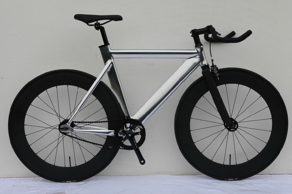 Aluminium Frame Fixie Bike 700c Chrome Fixed Gear Bicycle