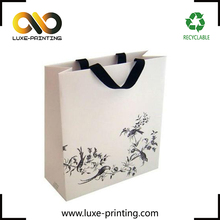 Small quantity paper bagr custom china gift white kraft paper bag