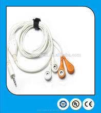 durable DC3.5mm audio jack TPU jacket ECG/EEG cable